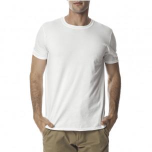 Tricou Basic de bărbați alb din bumbac