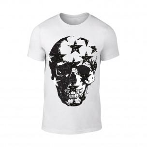 Tricou pentru barbati Skull alb