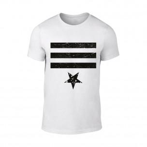 Tricou pentru barbati Star 3 alb