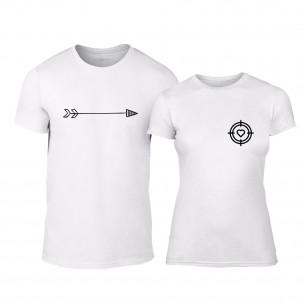 Tricouri pentru cupluri Target alb TEEMAN