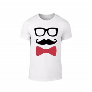 Tricou pentru barbati Hipster alb, mărimea S