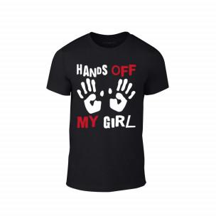 Tricou pentru barbati Hands Off negru, mărimea L