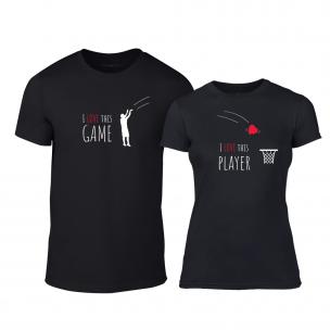 Tricouri pentru cupluri Basketball negru