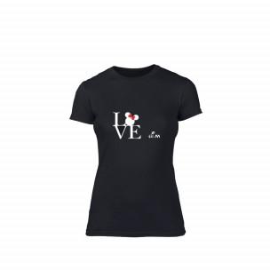 Tricou de dama Love him negru, mărimea M