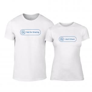 Tricouri pentru cupluri Sharing alb