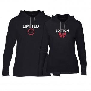 Hanorace pentru cupluri Limited Edition negru
