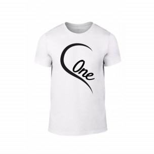 Tricou pentru barbati One Love alb, mărimea L