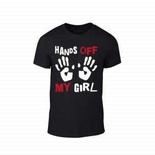 Tricou pentru barbati Hands Off negru, mărimea S