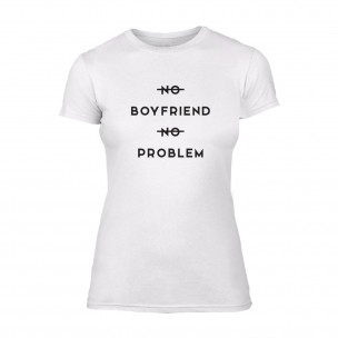 Tricou de dama No Problem alb