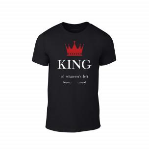 Tricou pentru barbati King negru, mărimea 2XL