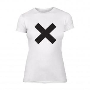 Tricou de dama X alb
