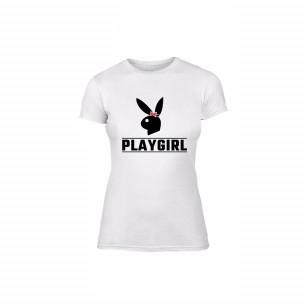 Tricou de dama Playboy alb, mărimea S