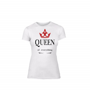 Tricou de dama Queen alb, mărimea S