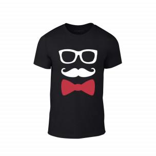 Tricou pentru barbati Hipster negru, mărimea M