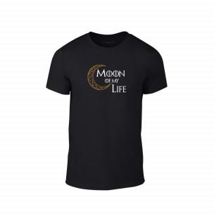 Tricou pentru barbati Moon negru, mărimea XXL