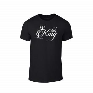 Tricou pentru barbati King negru, mărimea L