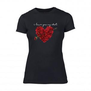 Tricou de dama Roseheart negru