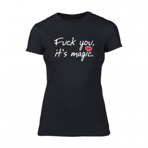 Tricou de dama It's Magic negru TEEMAN