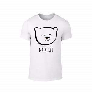 Tricou pentru barbati Bears alb, mărimea S TEEMAN
