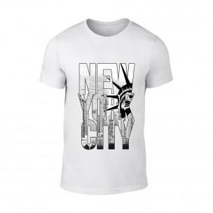 Tricou pentru barbati New York alb