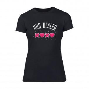 Tricou de dama Hug Dealer negru