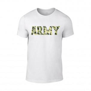 Tricou pentru barbati Army alb
