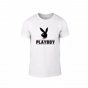 Tricou pentru barbati Playboy alb, mărimea XL