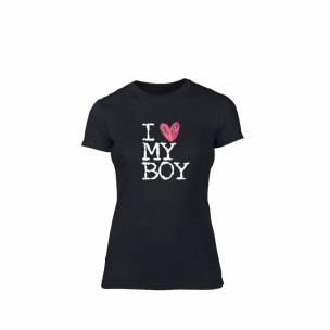 Tricou de dama Love My Girl Love My Boy negru S
