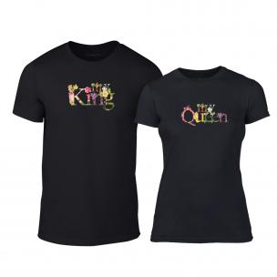 Tricouri pentru cupluri My King My Queen negru