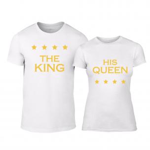 Tricouri pentru cupluri Royal Stars alb