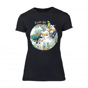 Tricou de dama Exotic Life negru