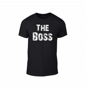 Tricou pentru barbati The Boss negru, mărimea L
