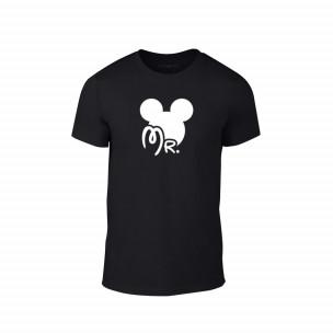 Tricou pentru barbati Mr. Mickey negru, mărimea L