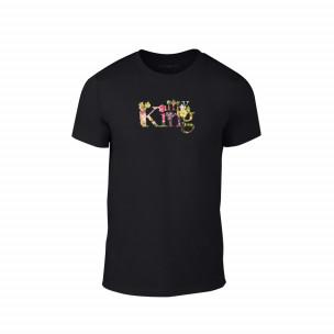 Tricou pentru barbati My King negru, mărimea M