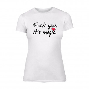 Tricou de dama It's Magic alb