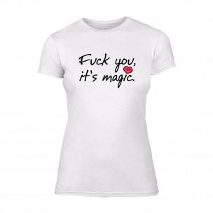 Tricou de dama It's Magic alb TEEMAN