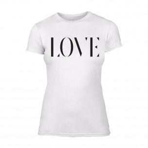 Tricou de dama Love alb