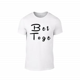Tricou pentru barbati Better Together alb, mărimea S