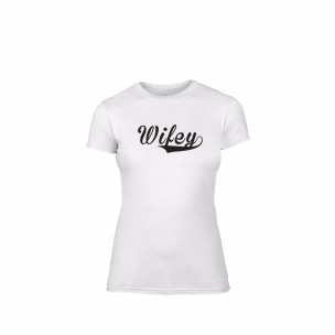 Tricou de dama Wifey alb, mărimea M