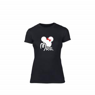 Tricou de dama Mrs. Minnie negru, mărimea S