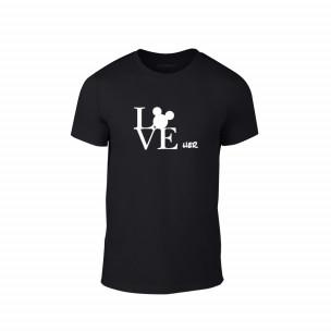 Tricou pentru barbati Love Her negru, mărimea S