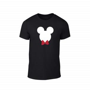 Tricou pentru barbati Mickey negru, mărimea 2XL