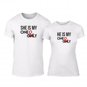 Tricouri pentru cupluri My One & Only alb TEEMAN