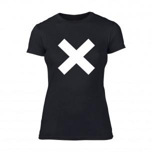 Tricou de dama X negru