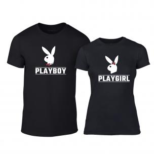 Tricouri pentru cupluri Playboy negru