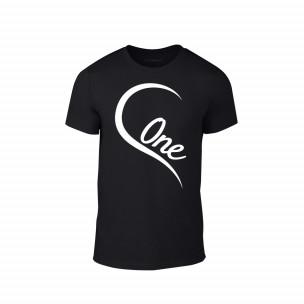 Tricou pentru barbati One Love negru, mărimea XL