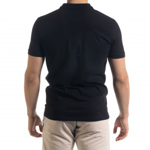 Tricou cu guler bărbați Clang negru Clang 2