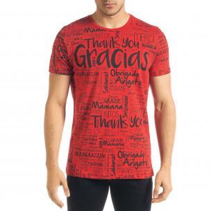 Tricou bărbați Lagos roșu