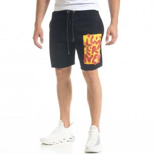 Pantaloni scurți bărbați SAW negri