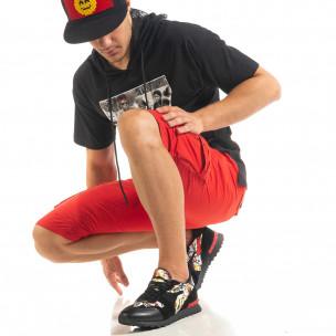 Pantaloni scurți bărbați Blackzi roșii